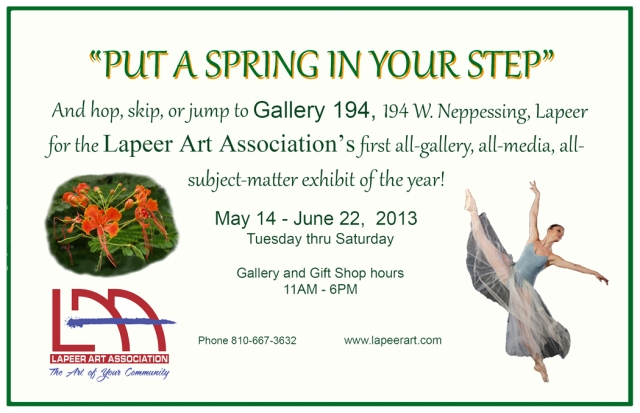 Put a Spring in Your Step - LAA Art Show