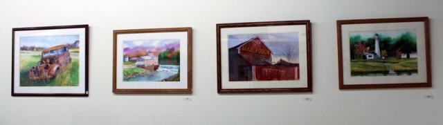 Watercolor art at the LAA spring show